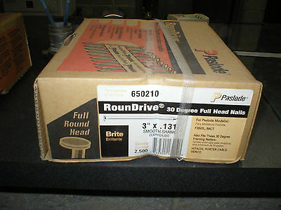 Paslode 3 X .131 Count Of 2500 Round Drive Smooth Shank Full Head