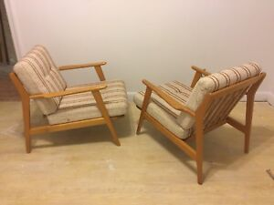 Mid Century Modern Vintage Lounge Chairs