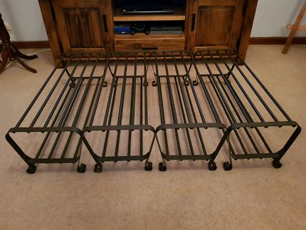 4 x 'PORTIS' 2 tier shoe racks