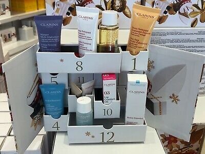 Clarins 12-Day Advent Calendar 12 Full & Travel Size Beauty Products - MSRP $60