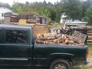 Selling wood by the truck load and delivering