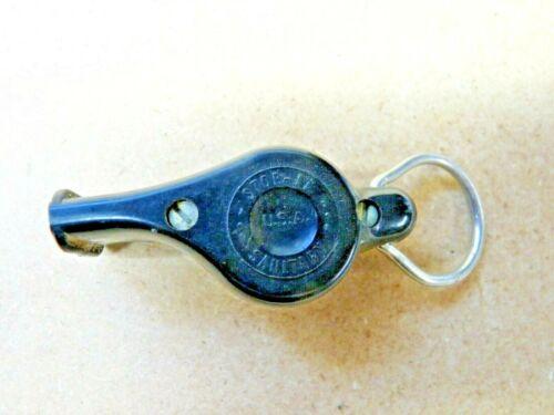 Vintage Bakelite Whistle- Stop-It, Sanitary,USA, National Whistle