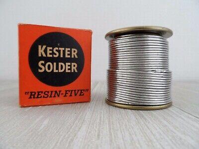 Vtg Kester Solderresin Fiveelectrical1 Lb Spoolalloy 6040d .062noshtf