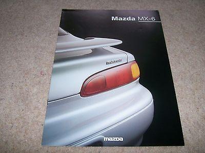 Mazda MX-6 Brochure 9/96