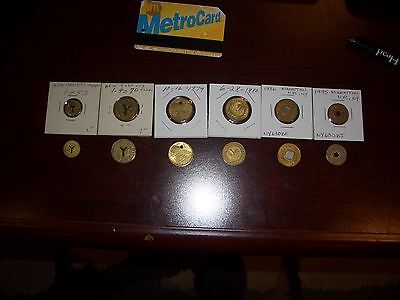 Nyc Subway Token (NYC New York City Subway Tokens, All six (6) from 1953 thru 1993.Complete)