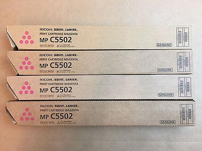 4pk Genuine Ricoh Savin Lanier Mp C5502 Magenta Toner 841753 - Same Day Shipping