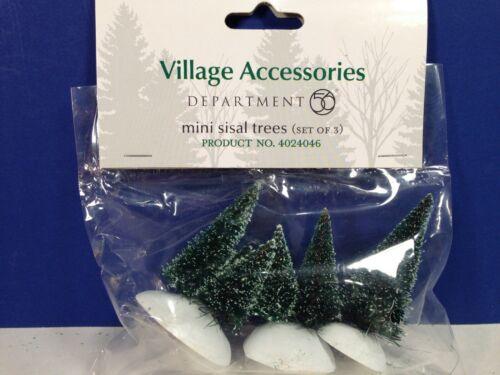 Dept 56 Heritage Village MINI SISAL TREES Set of 3 NEW! 4024046