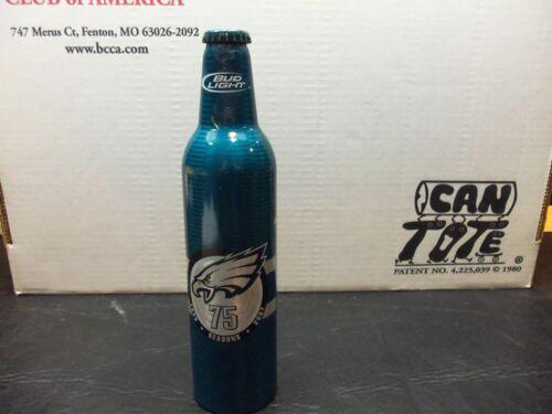 Bud light 16 oz Aluminum Bottle   75th anniversary season 1933-2007 Phila Eagles
