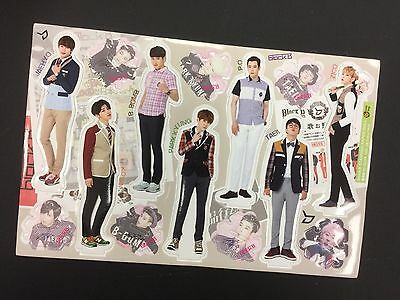 Kpop BLOCK B K pop High Quality Official Photo Standing Paper Doll