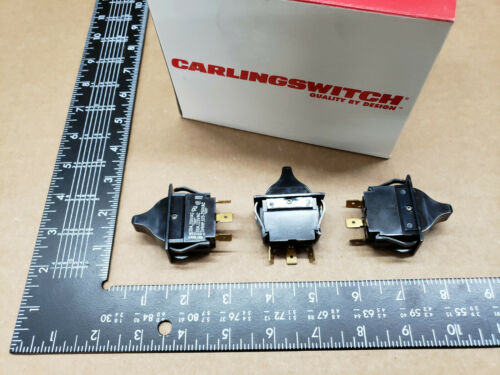 (3 pcs)TIGC51-7S-BL-NBL Carlingswitch, 15A 125vac SPDT, Full Sized Rocker Switch