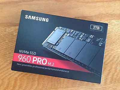 Samsung 960 Pro 2TB NVMe m.2 PCIExpress PCIe NVMe - MZ-V6P2T0BW - RETAIL SEALED