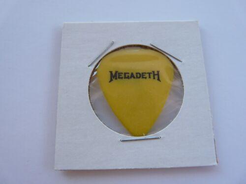 Megadeth Dave Elliefson Yellow signature Vintage Concert Tour Issued Guitar Pick