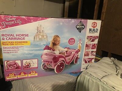6-Volt Royal Princess Horse & Carriage Play Bike Kids Fun Battery Ride On Toy