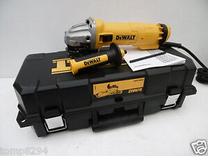 DEWALT DWE4206K 110V 115MM 1010 WATT ANGLE GRINDER + KITBOX & DIAMOND DISC