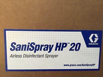 Graco Sani Spray Hp 20 Cordless Sani Sprayer