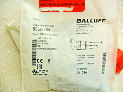 Balluff BES004N BES M12MG-PSC80F-S04G Factory Sealed Bags USA SELLER