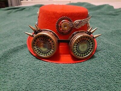 Children's Red Steampunk Hat See Photos For Details