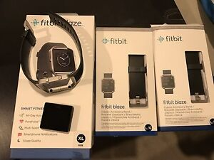 USED FITBIT BLAZE WITH 2 addition band (all black) - 2 MONTHS OLD Dandenong Greater Dandenong Preview