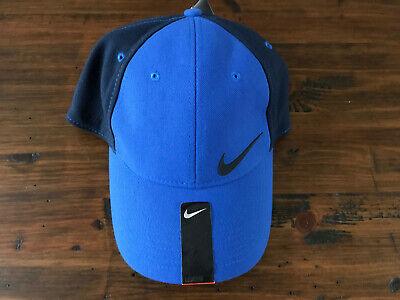 NEW NIKE MEN'S LEGACY 91 DRI FIT Flex Fitted HAT CAP NAVY BLUE