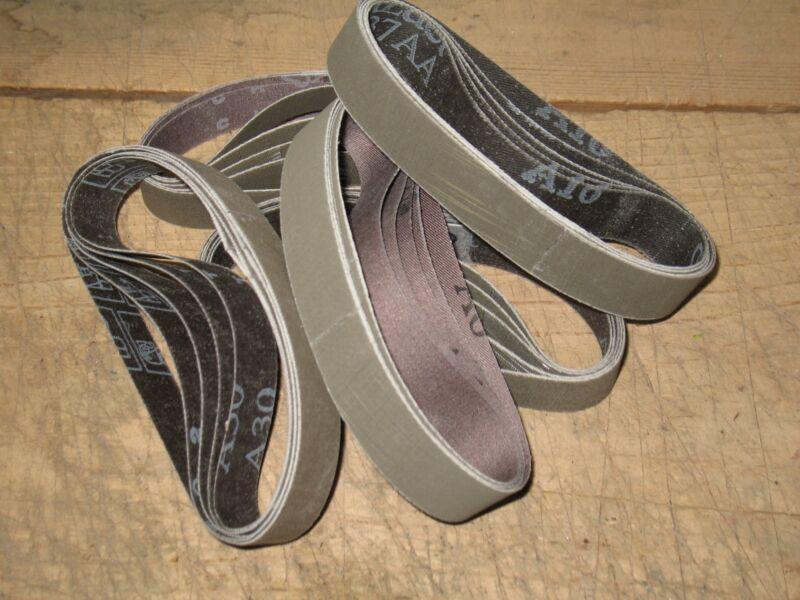 """25pc 3/4 x 12"""" 3M Trizact sanding belts for Worksharp Ken Onion knife sharpener."""
