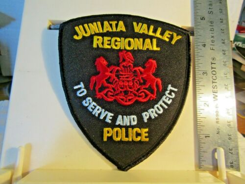 "Juniata Valley Regional Police PA Pennsylvania serve protect 4.75"" tall NM *"