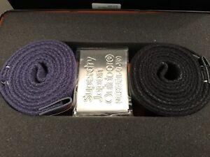 Superdry Knox Belt Double Pack - Black/Navy BNWT
