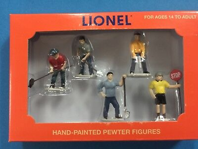 "Lionel 6-14241 Work Crew People  Hand-Painted Pewter Figures O Gauge ""BRAND NEW"" for sale  Minot"