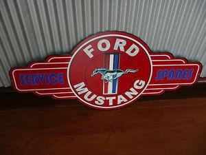 Ford Mustang Metal Tin Sign bar garage petrol oil car Service Spares