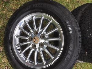 Winter tires on chrome rims