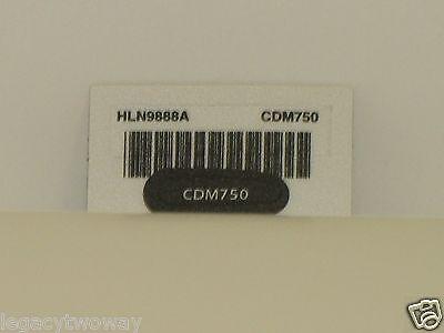 Motorola Hln9888a Cdm750 Label Name Plate