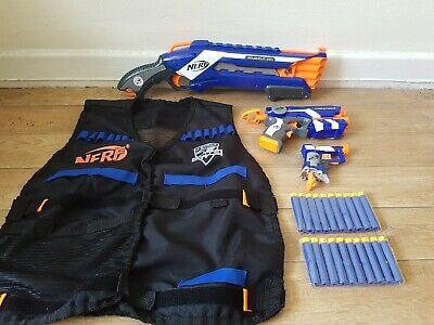 nerf gun elite bundle Roughcut Firestrike jolt pistol + vest + bullets 24.99p