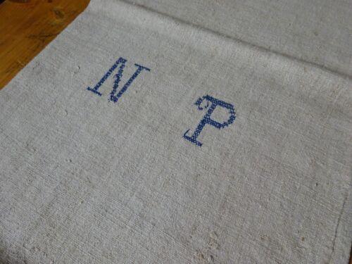 Antique European Feed Sack GRAIN Sack NP Monogram # 10146
