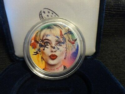 """2021 Silver Eagle Colorized """"Harley Quinn"""" Birds of Prey Limited to 25"""