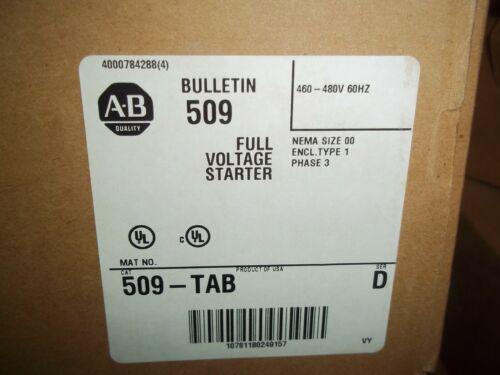 GENUINE  ALLEN BRADLEY  509-TAB MOTOR STARTER