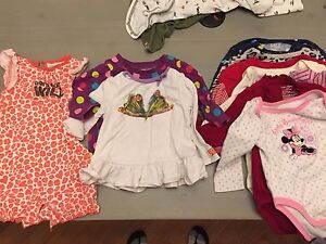 11 size 6-12 mths girl tops