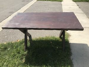Beautiful dining table solid wood made in Canada vintage