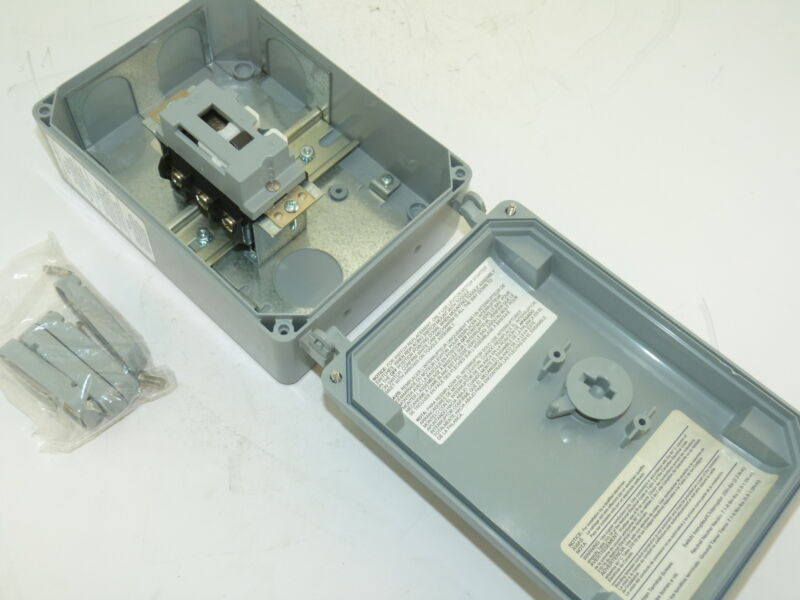 Leviton MS4X-303 30A 600V 3PH Manual Motor Starter Type 3R 4X 12K IP67