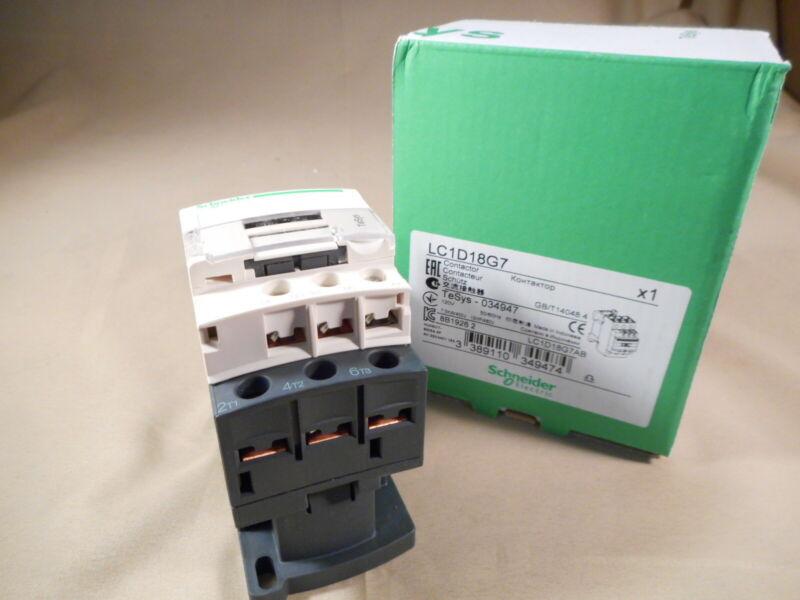 SCHNEIDER ELECTRIC  Telemecanique, SQ D  LC1D18G7 contactor  (NIB)
