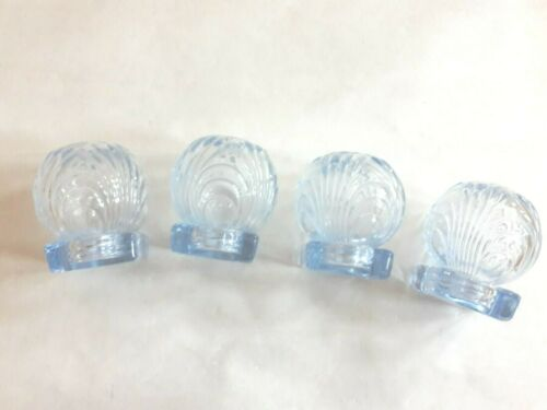 (4) Rare 1936 Moonlight Blue Cambridge Caprice Salt & Pepper Shaker Item #91