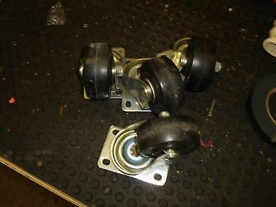Set Of 4 Casters Used Heavy Duty
