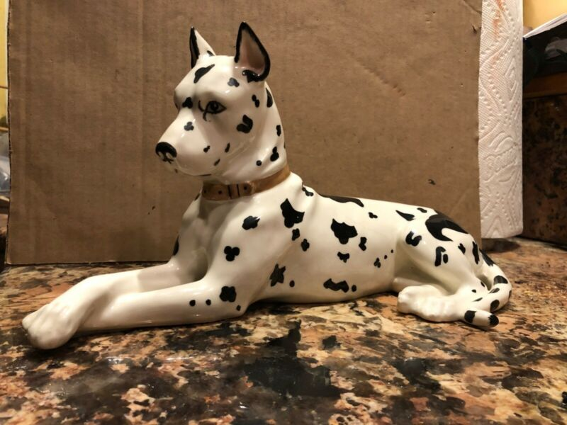 Rare Large GREAT DANE figurine porcelain Stunning.Perfect ERPHILA Germany