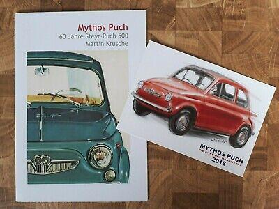"""Steyr-Puch        500      """" 60 Jahre """"      Brochure /  Prospekt  2017 !!!"""