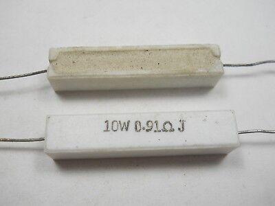 0.91 Ohm 10 Watt 5 Cement Power Resistor Nosnew Old Stockqty 10 Ead5