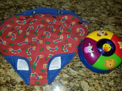 Baby Einstein Discover Play Exersaucer Animal Toy & seat cover Replacement parts