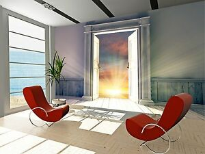 Room with Opened Door  Wall Mural Photo Wallpaper GIANT DECOR Paper Poster
