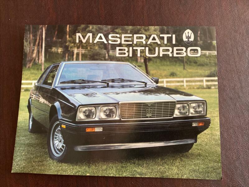 Maserati Biturbo Brochure Original Excellent Condition