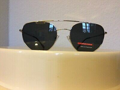 PRADA LINEA ROSSA Sonnenbrille Pilotenbrille Mod. SPS 56S 1BC-5S0 Silber NEU !!!