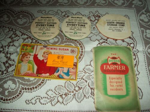 Vintage Advertising Sewing Needle Kits - Piggy Wiggly-Allied-Sewing Susan-Farmer