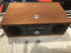 Tivoli Audio Music System Alarm Clock/Radio/CD Player Cherry Metallic Taupe