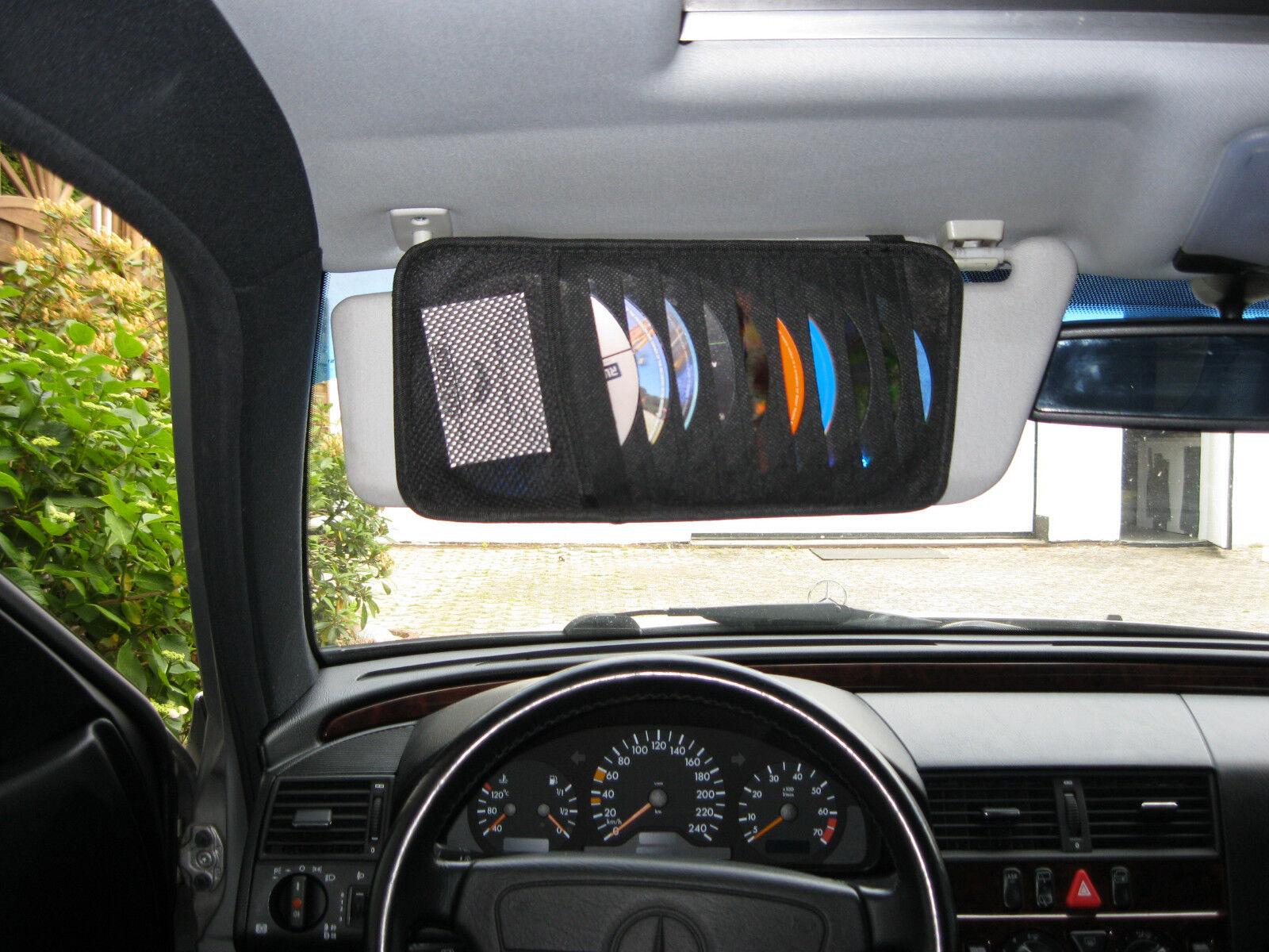 Auto CD DVD Tasche Hülle Aufbewahrung für PKW KFZ Sonnenblende mit 10 Fächern
